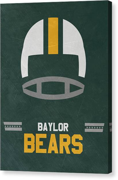 Baylor University Canvas Print - Baylor Bears Vintage Football Art by Joe Hamilton