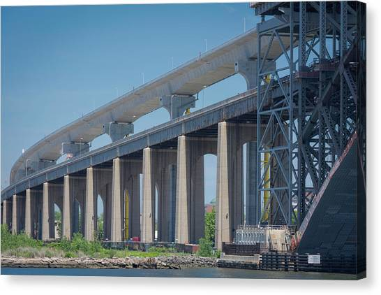 Bayonne Bridge Raising #5 Canvas Print