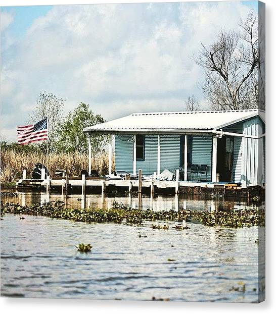 Bayous Canvas Print - Bayou Living #camp #bayou #louisiana by Scott Pellegrin