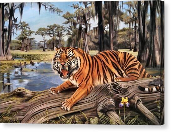 Louisiana State University Lsu Canvas Print - Bayou Mike Of Louisiana by Mike Roberts