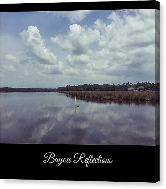 Mississippi Canvas Print - Bayou Reflections #oldfortbayou #water by Joan McCool