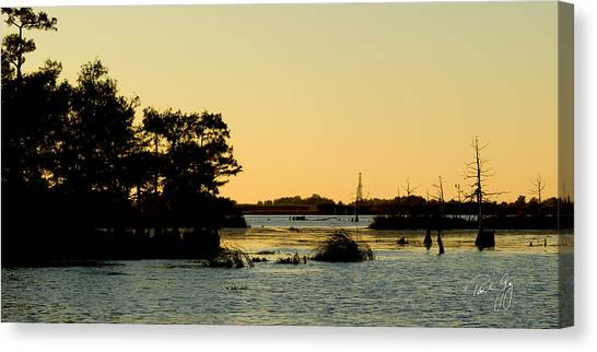 Bayou Sunset Venice Louisiana Canvas Print
