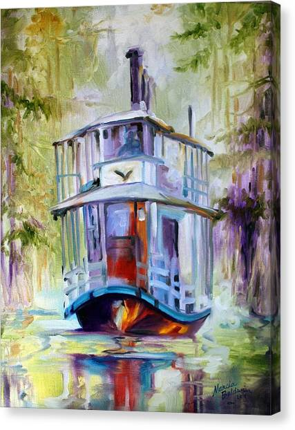 Bayous Canvas Print - Bayou Taxi Waterscape by Marcia Baldwin