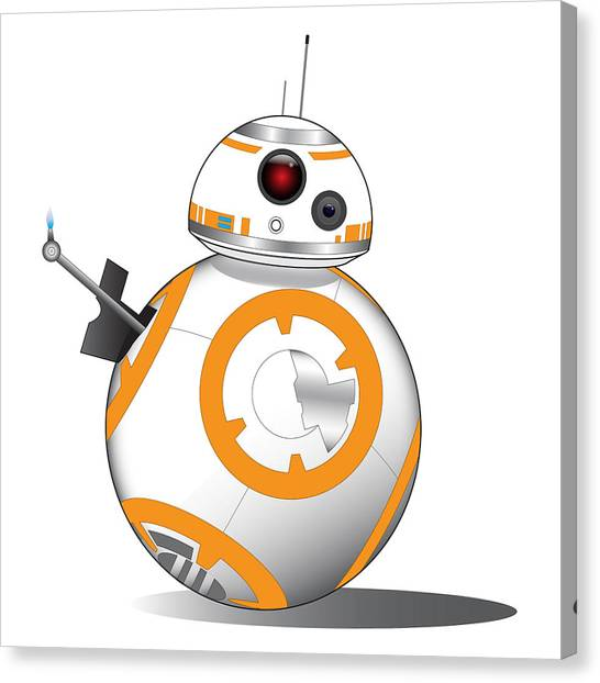 R2-d2 Canvas Print - Bb-8 by Nathan Shegrud