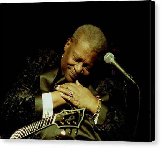 Bb King - Straight From The Heart Canvas Print by Bob Guthridge