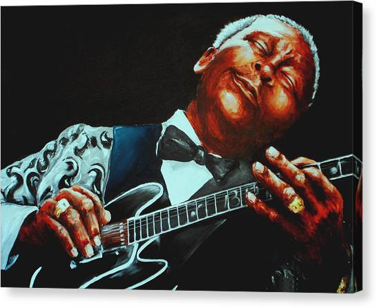 Rhythm And Blues Canvas Print - Bb King Of The Blues by Richard Klingbeil
