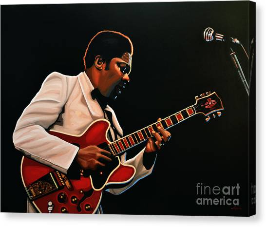Kings Canvas Print - B. B. King by Paul Meijering