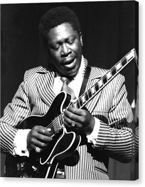 Bb King - Strummin' Canvas Print