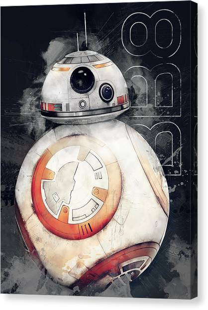 C-3po Canvas Print - Bb8 by Afterdarkness