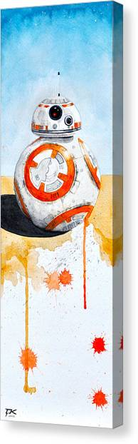Droid Canvas Print - BB8 by David Kraig