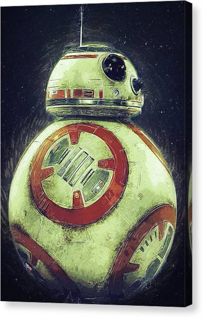 C-3po Canvas Print - BB8 by Semih Yurdabak