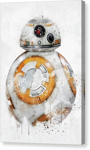 Chewbacca Canvas Print - Bb8 - Star Wars by Jeffrey St Romain