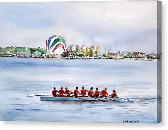 Boston College Canvas Print - Bc High Row Team by Dan McCole
