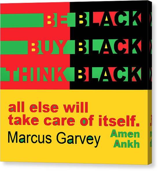 Be Black Rbg Canvas Print
