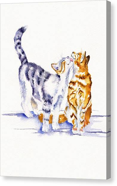 Cat Canvas Print - Be Cherished by Debra Hall