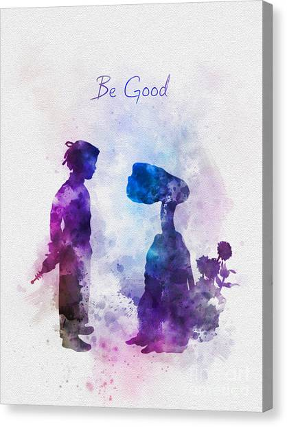 E.t Canvas Print - Be Good by Rebecca Jenkins
