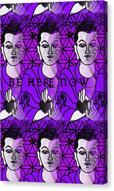 Karma Sutra Canvas Print - Be Here Now Buddha by Gia Simone