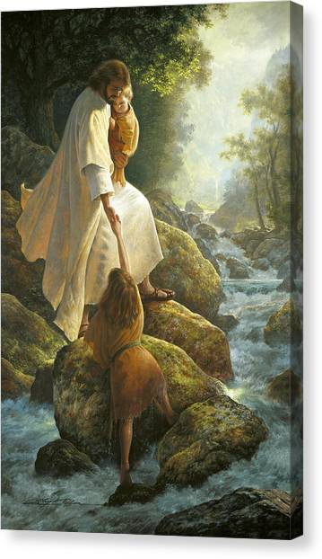 Boy Canvas Print - Be Not Afraid by Greg Olsen