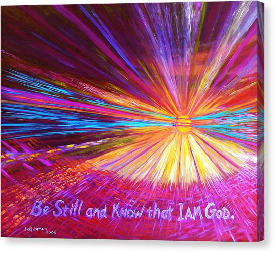 Canvas Print featuring the painting Be Still by Jeanette Jarmon