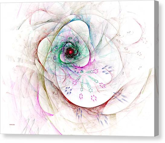Be Strong Little Flower Canvas Print