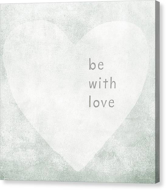 Hearts Canvas Print - Be With Love - Art By Linda Woods by Linda Woods
