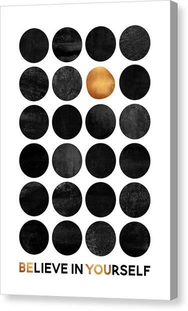 Dots Canvas Print - Be You by Elisabeth Fredriksson