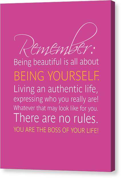 Canvas Print - Be Yourself by Luzia Light