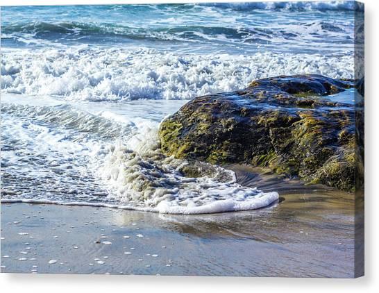 Wave Around A Rock Canvas Print