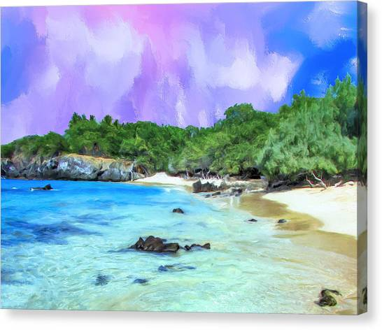 Mauna Loa Canvas Print - Beach 69 Big Island by Dominic Piperata
