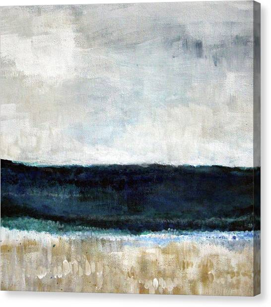 Surf Canvas Print - Beach- Abstract Painting by Linda Woods
