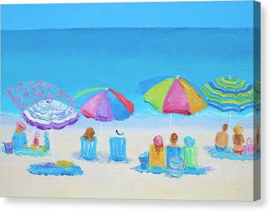 Beach Art - A Golden Day Canvas Print