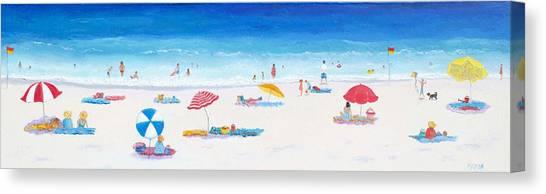 Coastal Wall Art Canvas Print - Beach Art - Very Long Hot Summer by Jan Matson