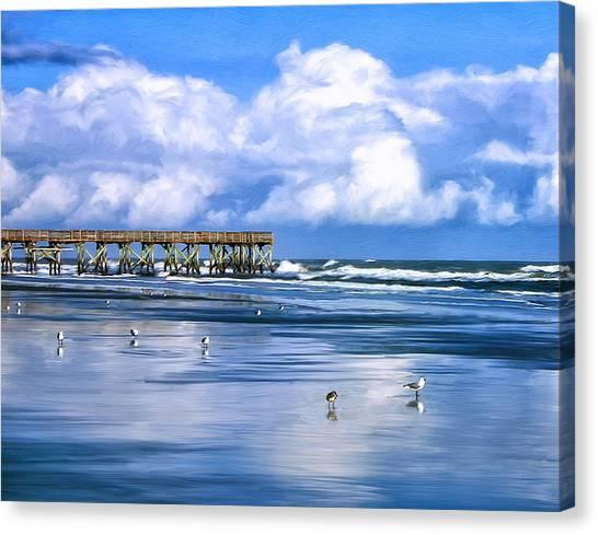 Beach At Isle Of Palms Canvas Print