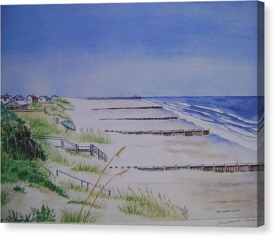Pawleys Island Beach: Beach At Pawleys Island S.c. Painting By Anna Barnwell