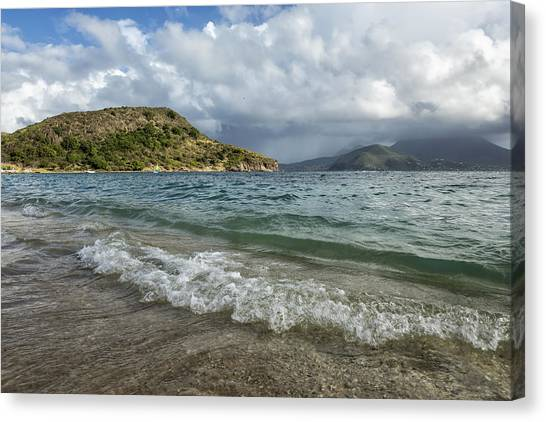 Canvas Print featuring the photograph Beach At St. Kitts by Belinda Greb