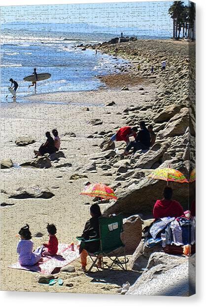 Beach Babies 2 Canvas Print by Robin Hernandez