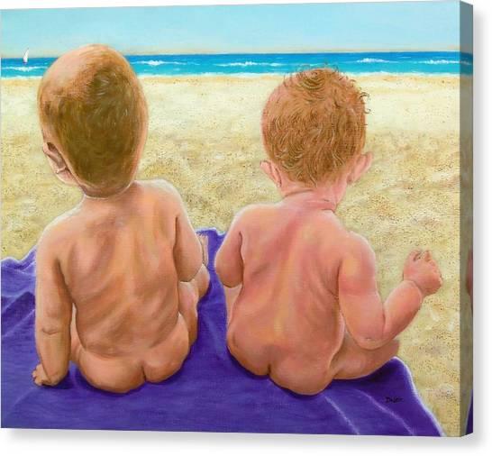 Beach Babies Canvas Print