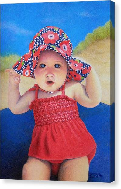 Beach Baby Canvas Print