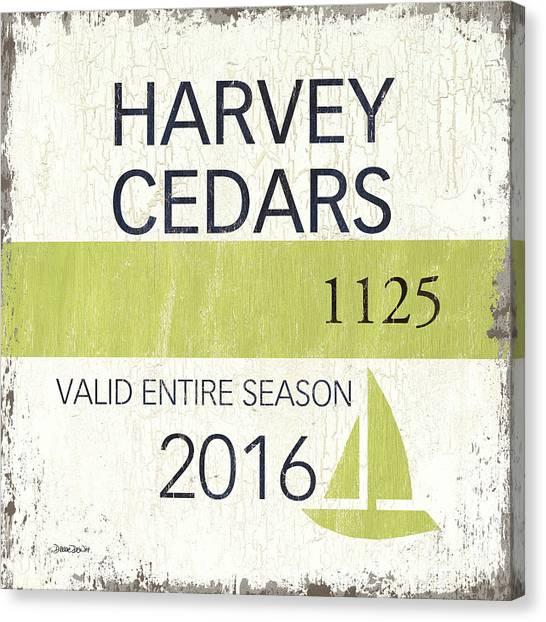 New Jersey Canvas Print - Beach Badge Harvey Cedars by Debbie DeWitt