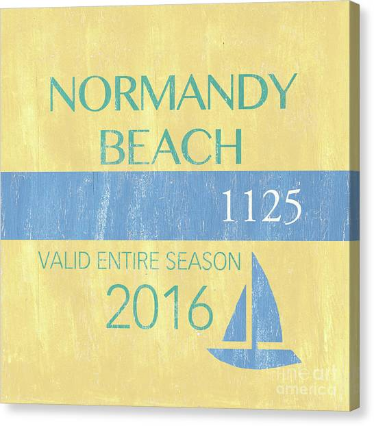New Jersey Canvas Print - Beach Badge Normandy Beach 2 by Debbie DeWitt