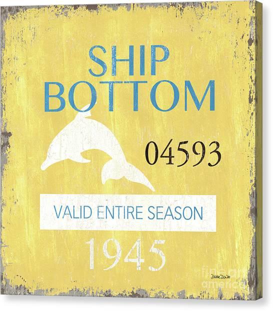 New Jersey Canvas Print - Beach Badge Ship Bottom by Debbie DeWitt