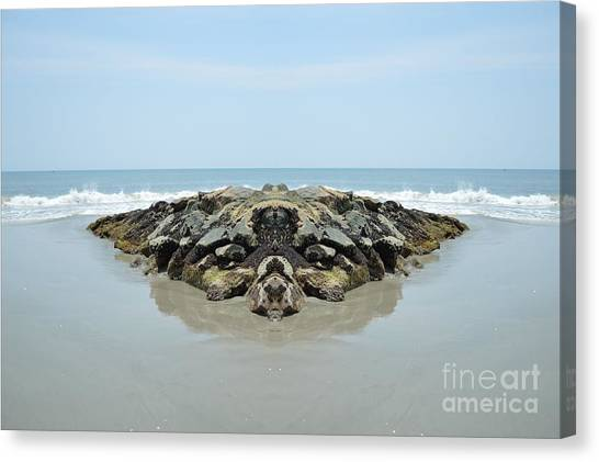 Beach Barrier Canvas Print