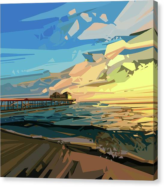 Summer Canvas Print - Beach by Bekim Art