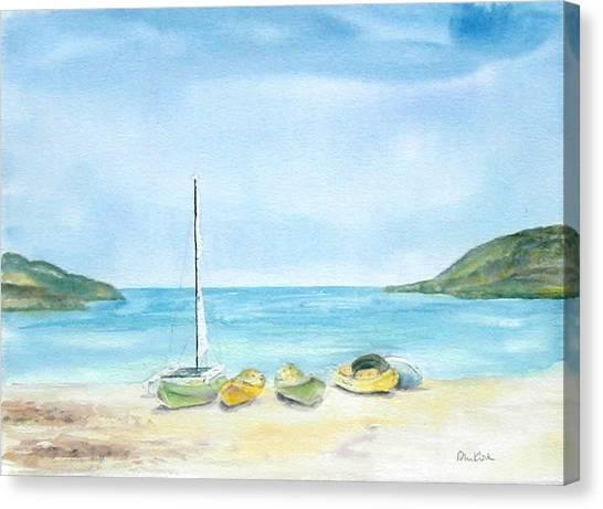 Beach Boats Canvas Print