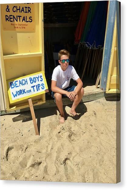Beach Boys Work For Tips Canvas Print