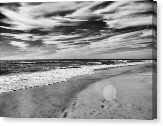 Canvas Print featuring the photograph Beach Break by Alison Frank