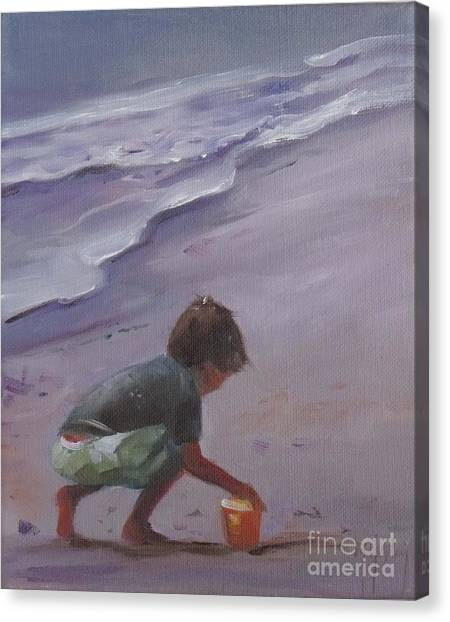 Beach Bucket Canvas Print