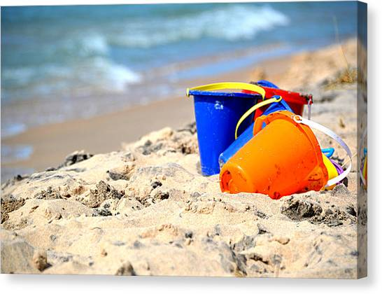Beach Buckets Canvas Print