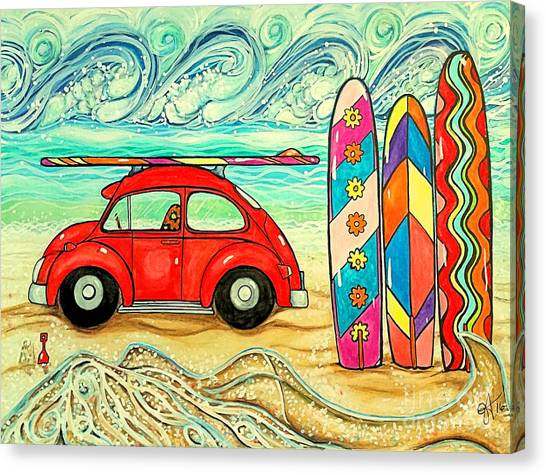 Beach Bug Canvas Print