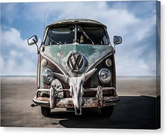 Wagon Canvas Print - Beach Bum by Douglas Pittman